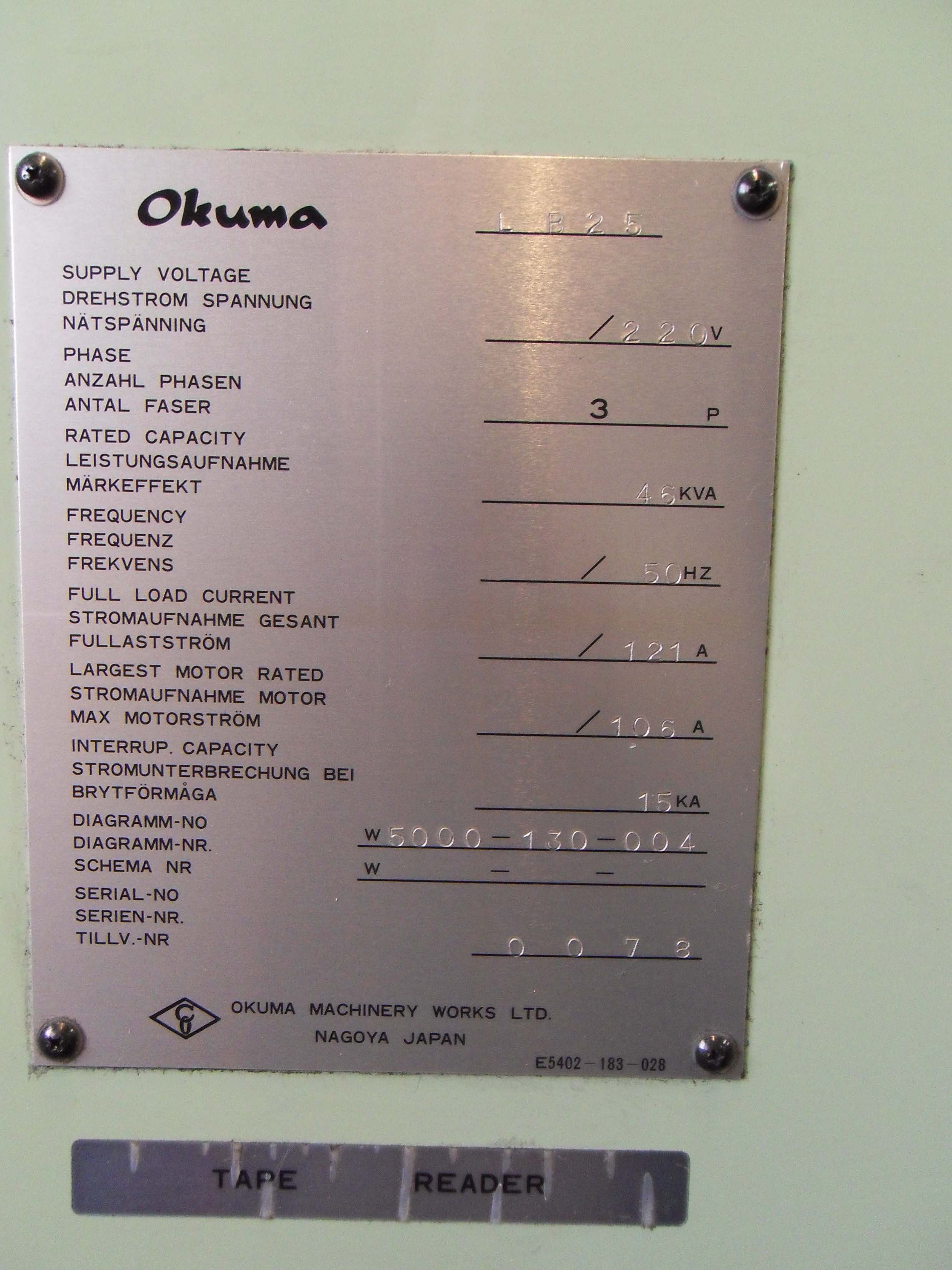 dealer Turning Machine OKUMA LB25 used